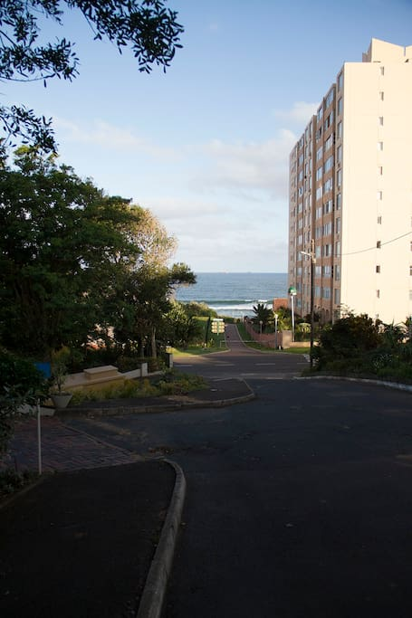 Easy access to beach via Blue Water Lane very close to complex