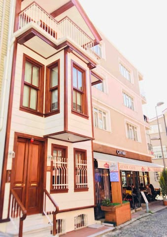 Authentic Turkish house is high in safety   Security cameras are monitored outside the house and fire alarm smoke detector is available.     The exterior of the house consists of 5 apartments.Each apartment is private to guests