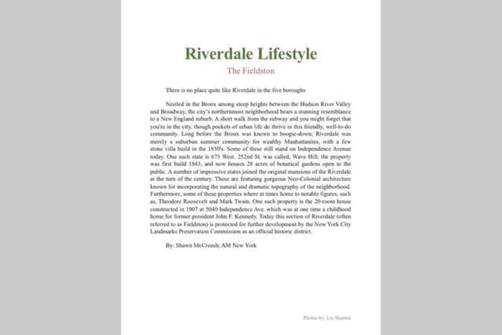 Brief Riverdale History