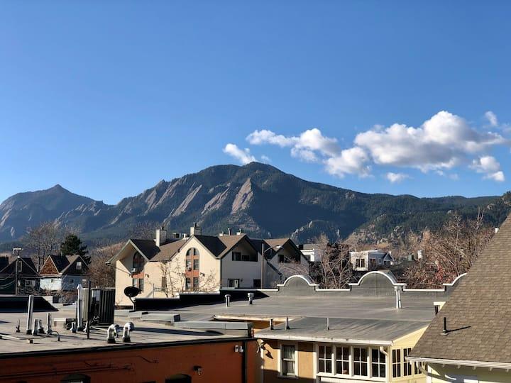 *Pearl St*Downtown Boulder Condo w/Flatiron Views