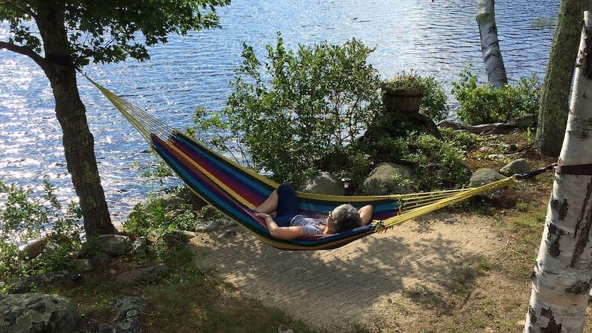Mother in hammock