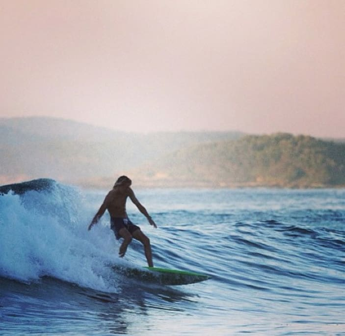 Local surf within walking distance
