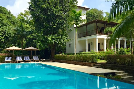 Villa with huge pool in tropical private gardens - Villa