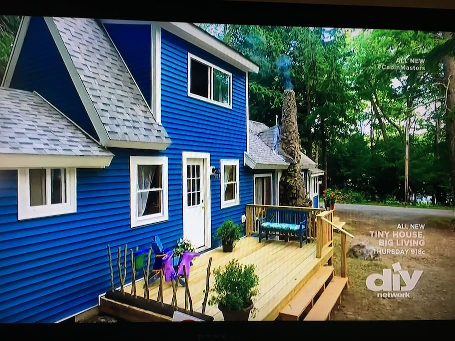 Deck view (two years ago) Yes, this camp was shown on Maine Cabin Masters, Season 1, episode 5