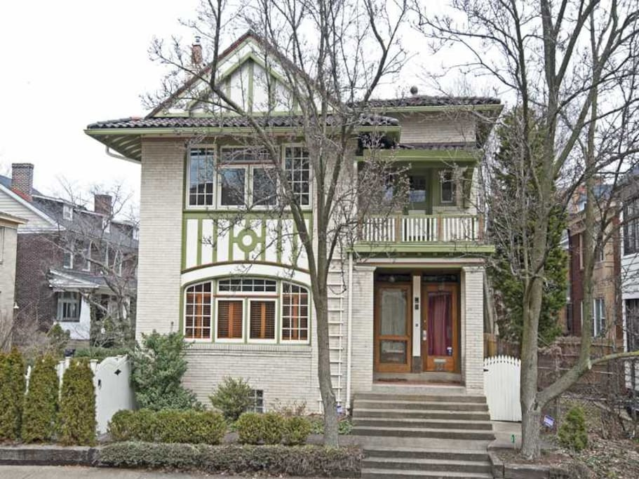 The house was built over 100 years ago as two separate homes with separate entrances. You will stay in the 2nd floor home. The 1st floor home is listed separately on AirBnB.