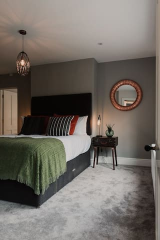 The sumptuous master bedroom