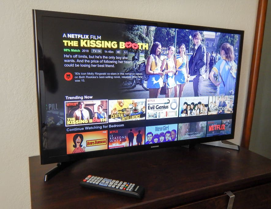 Full HD TV with Netflix in your room