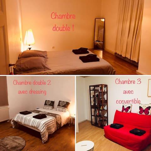 La chambre des Potiers Dans bel appartement