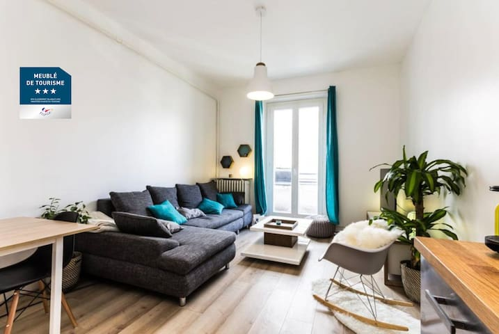 cozy apartment center + Garage - Grenoble - Lejlighed