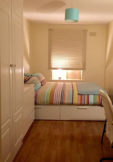 Room very confortable and bright with a lot of space. New mattress!
