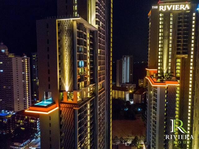 Riviera 1bedroom high level Sea view 高层海景房