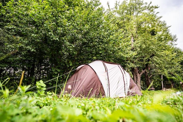 Место под палатку в горах Адыгеи