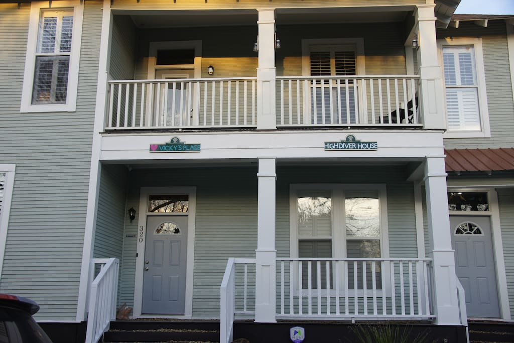 """""""Vicky's place"""" and my daughter owns """"High diver house"""" that is the upstairs part of our Duplex."""