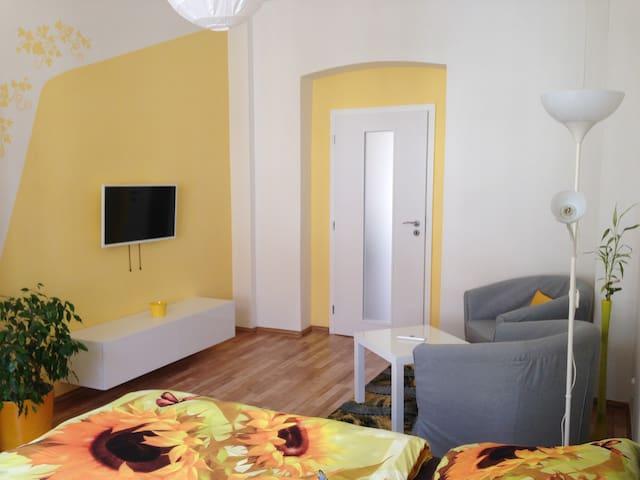 Yellow Apartment in Prague