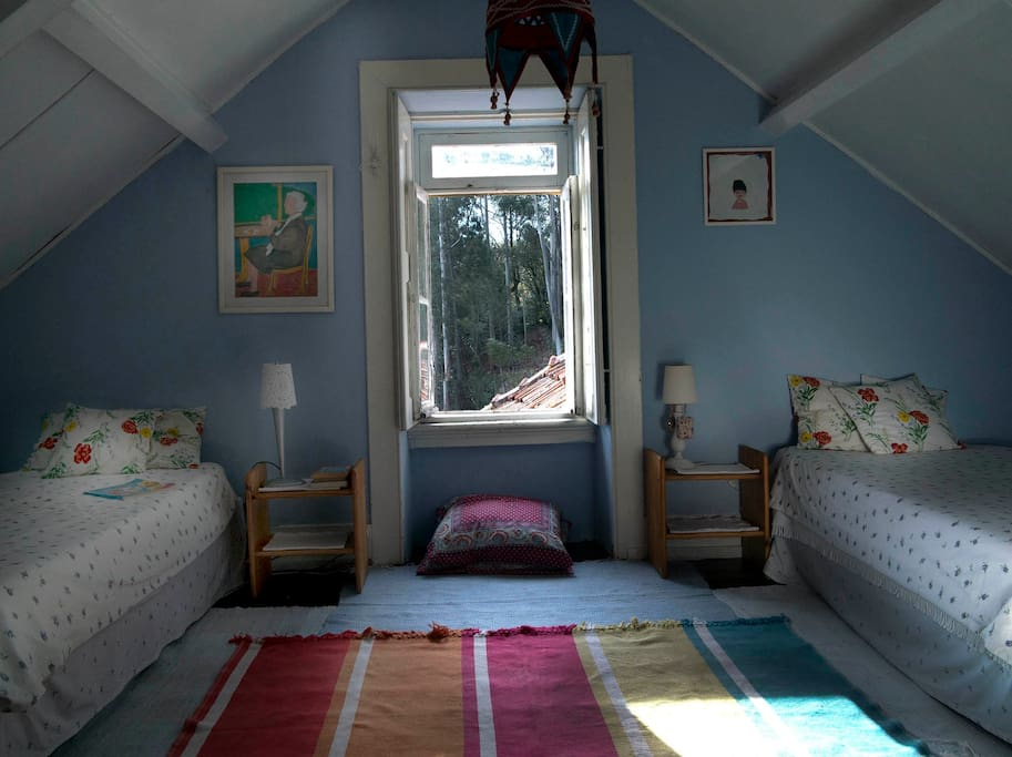 Twin bedroom real countryside cosy room
