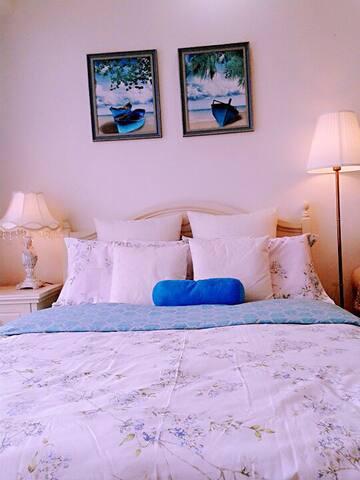 二号线铁上盖 吊床 田园 法式 蓝色浪漫公寓 光谷 武大 东湖 - Wuhan - Apartamento