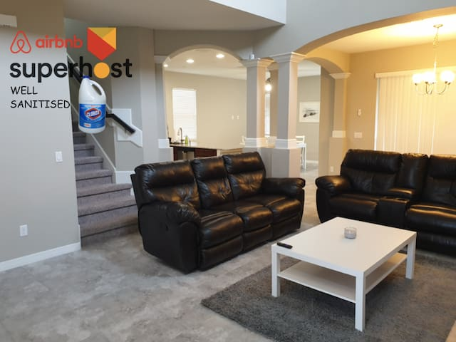 Quite - Comfortable 4+2.5 New House by Mco Airport