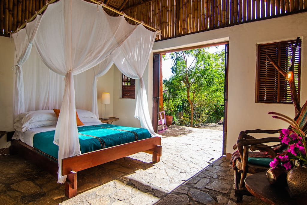 Bungalow #1 has one queen bed. Additional beds are available upon request for an additional fee per person.