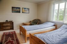 Bedroom 2 is the biggest - with two single beds. You can add a air mattress if needed.