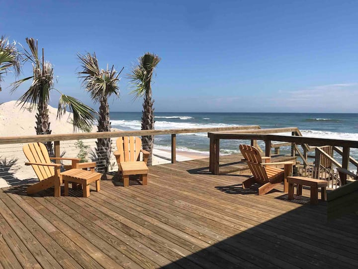 Oceanfront Duneswept 4BR House - private setting