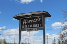 """You can't come  and visit Streator without stopping at Harcar's Meat Market. This  family owned and operated market since 1959, is home to the famous """" Harcar's Brat Burger""""."""