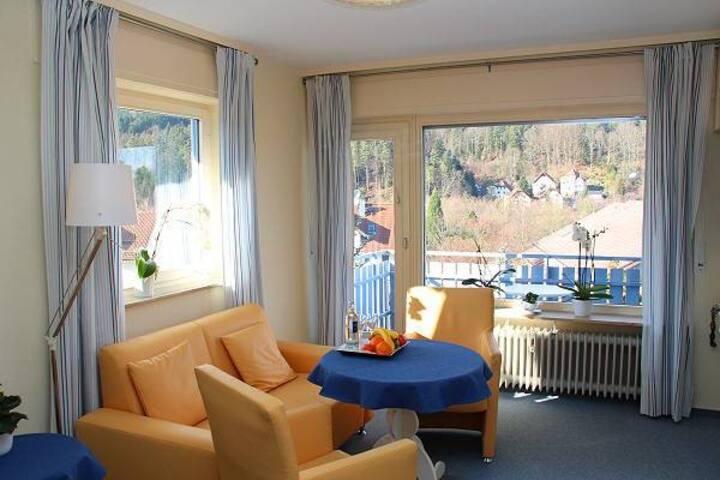 """Hotel Garni """"Sonnenhof"""", (Bad Herrenalb), Einzelzimmer mit WC und Dusche"""