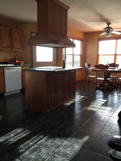 Full kitchen with stove, ref., dishwasher, microwave, coffee pot, and much more