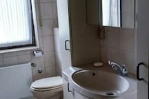 Bathroom (shower and tub on the opposite side)