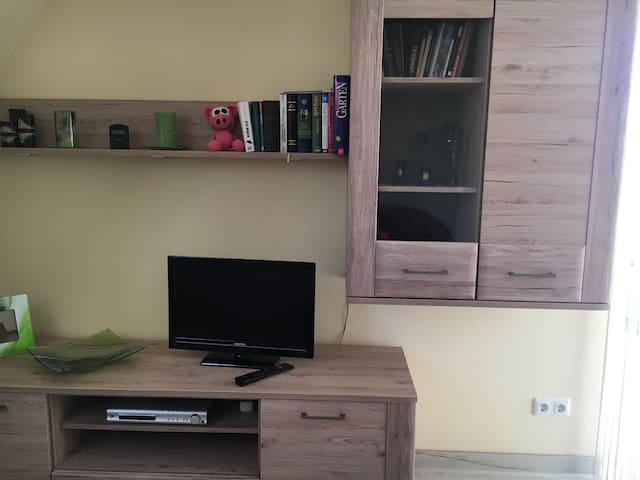Fernsehen mit DVD Laufwerk ist Bestandteil des Zimmers