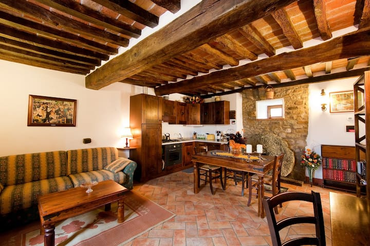 The Molinello. One bedroom Tuscan Mill with Pool - Cortona - Pis