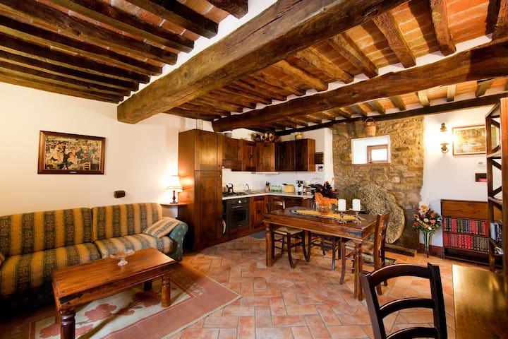 The Molinello. One bedroom Tuscan Mill with Pool - Cortona - Lägenhet