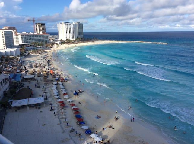 Penthouse-studio+Ocean view+Hotel Zone SALVIA - Cancún - Lägenhet
