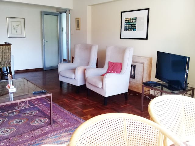 Spacious lounge with TV , games and DVDs