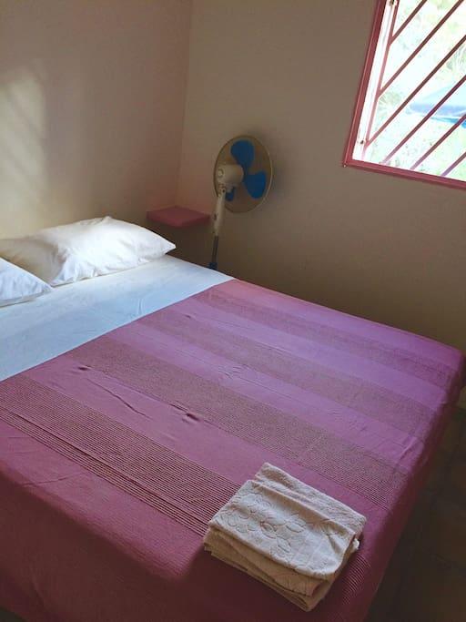 Camera 1 /Room 1  Il letto matrimoniale si può trasformare su richiesta in due letti singoli  Eng:  The double bed can be transformed  into 2 single beds upon request