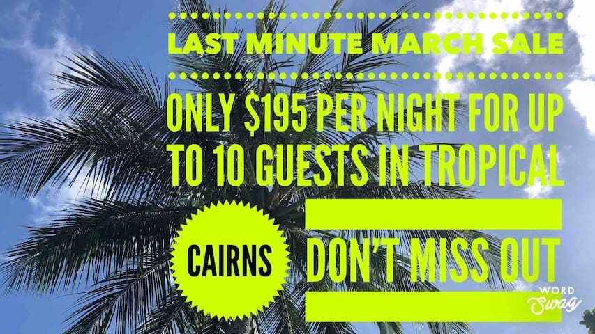Cairns Beaches, Absolute Beach Front >10 Guests