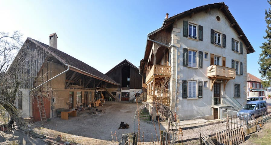 Veille ferme centenaire rénovée - Chavornay - Apartamento
