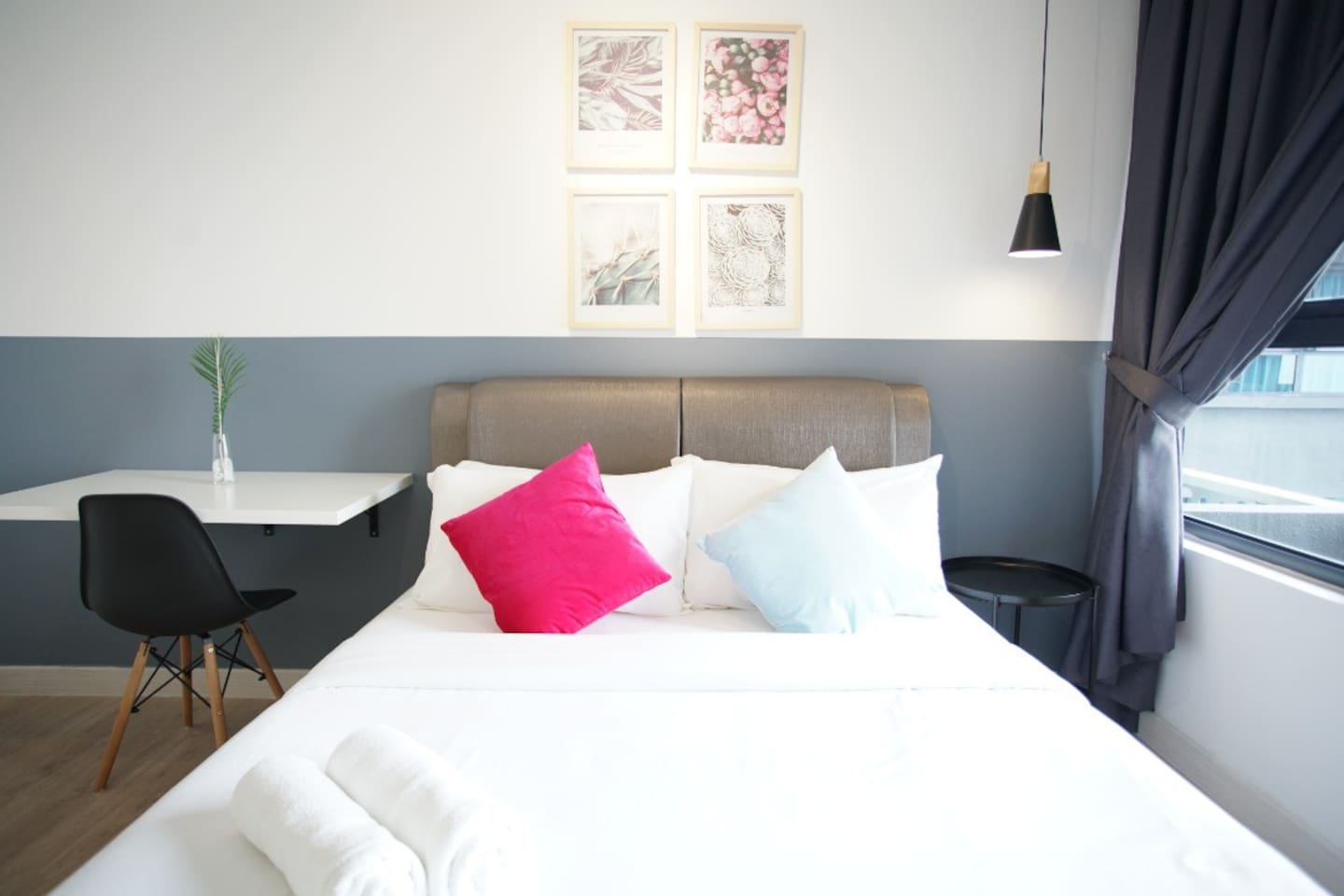 Comfortable Queen Size in the One Bedroom unit