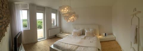Charmantes-Design-Ferienhaus am Weinberg