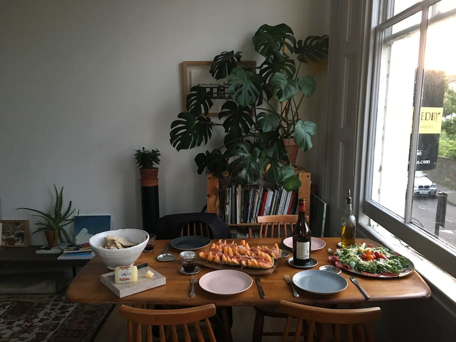 The dining corner in the living-room
