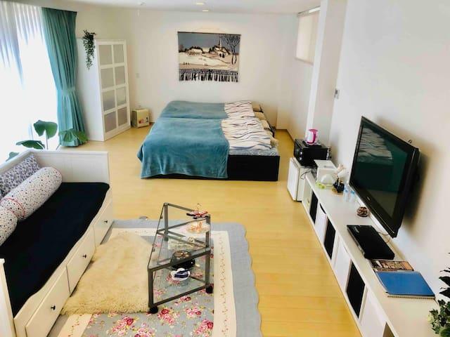 広々お部屋(50平米)でリラックス。新セール:春休み価格改定! 2人以上のご利用がお得です