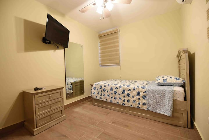 This is the 3rd bedroom. Room has a trundle bed. 2 people can sleep in this room.