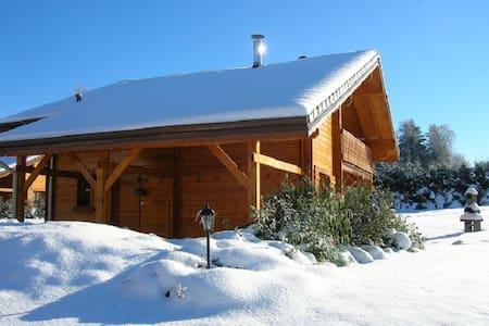 Chalet en bois massif avec sauna balnéo wifi - Saint-Nabord