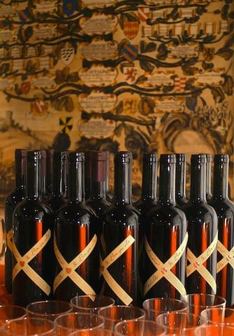 Wein und Familienbaum
