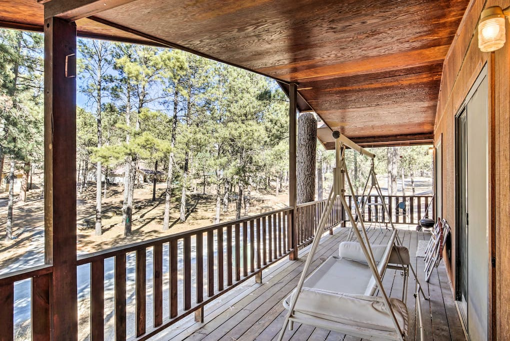 Lounge on the furnished deck and marvel at the gorgeous natural views.