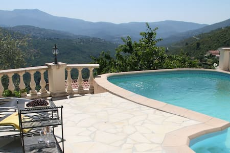 Villa north of Nice. Private pool, perfect view. - Nice