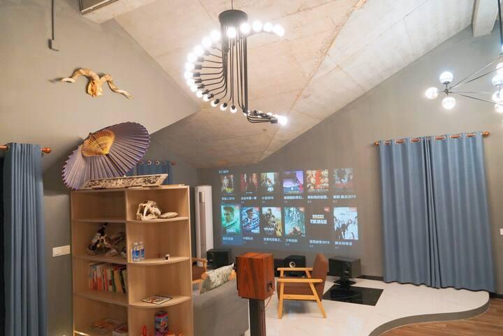 平墅158平套房 3-4人大家庭度假 毗邻南湖湿地公园 150寸家庭影院 双人浴缸 大露台 美式烧烤