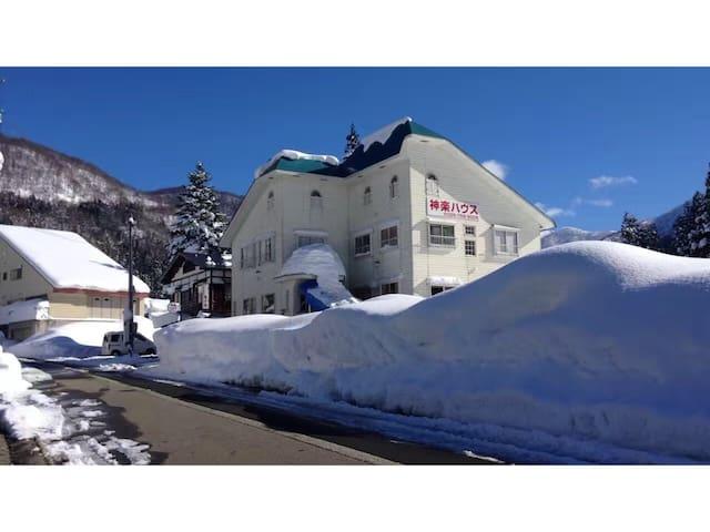 越後湯沢 みつまた・かぐらスキー場(三俣神楽滑雪场)神楽ハウススキー場