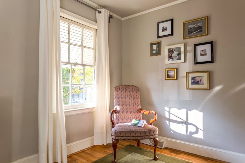 Catch up with a book in the sunny reading nook.