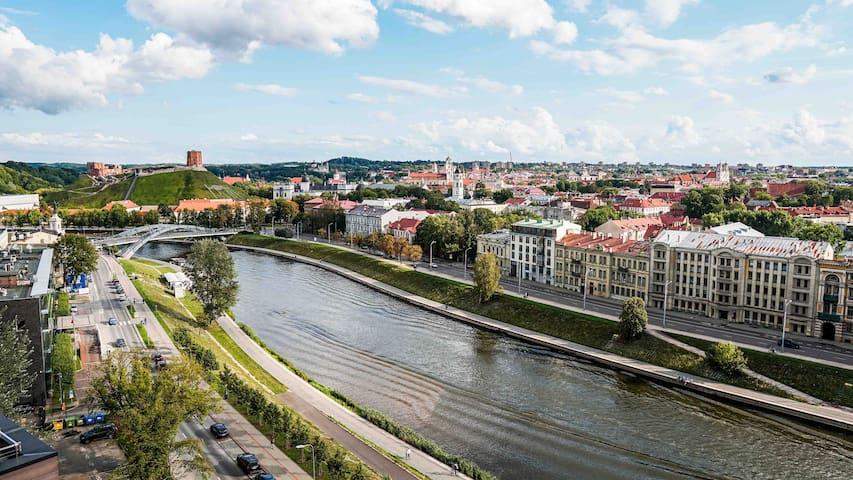 Vilnius city best view apartments