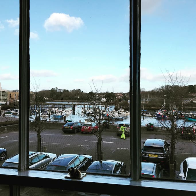 The view of the Quay from the upstairs lounge.